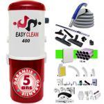 Aspiration centralisée EASY-CLEAN 400 garantie 5 ans + Set 15 m RETRAFLEX + 7 accessoires + kit 1 prise RETRAFLEX + kit prise balai (rayon d'action 150 m2)