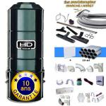 ASPIRATEUR CENTRAL SANS SAC SANS FILTRE HD801C (jusqu'à 600 M²) GARANTIE 10 ans + set inter 9 M + 8 accessoires + kit 4 prises + kit prise balai + kit prise garage
