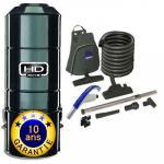 Aspirateur Central type ALDES, HD801C SANS SAC SANS FILTRE - Garantie 10 ans - Surface jusqu'à 600 m² - Set de nettoyage