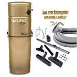 ASPIRATEUR CENTRAL UNITÉ MOTRICE VACUFLO FC 670 (jusqu'à 600 M²) GARANTIE 2 ans + set inter 9 M + 8 accessoires + Aspi-Plumeau offert