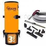 Aspirateur centralisé Eolys 350 + kit flexible 9m à variateur de vitesse, 8 accessoires + 1 aspi-plumeau - Surface jusqu'à 250m2 - Garantie 3 ans