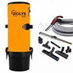 Aspirateur centralisé Eolys 450 avec kit flexible et 8 accessoires + 1 aspi-plumeau - Surface jusqu'à 350m2 - Garantie 3 ans