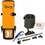 Aspirateur Central type ALDES, EOLYS 450 - Garantie 3 ans - Surface jusqu'à 350 m² - Set de nettoyage