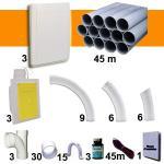 Kit 3 prises RETRAFLEX blanches avec tuyaux pour flexible de 9m et 12m