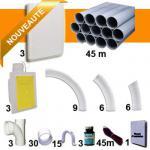 Kit 3 prises RETRAFLEX blanches nouvelle génération, 20% plus petit que le premier modèle! avec tuyaux pour flexible de 9m et 12m